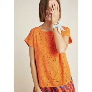 NWT Maeve Anthropologie Boxy Beaded Top